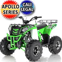 Apollo Series 125cc ATV Commander DLX Fully Automatic w/Reverse Cali Legal Utility Four Wheeler - COMMANDER DLX 125cc