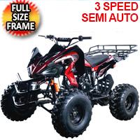 Cougar Sport 125cc ATV 4 Stroke 3 Speed Semi Auto Quad - COUGAR SPORT 125CC