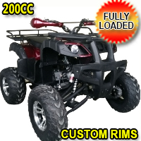 200cc Elite Plus ATV Fully Loaded Fully Automatic w/Chrome Rims & Reverse! UT-200