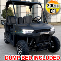 Gas Golf Cart EFI UTV 200cc Crossfire 2 Seater Utility Vehicle With Dump Bed - CROSSFIRE 200 EFI DUMP BED