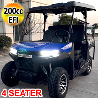 Gas Golf Cart EFI UTV 200cc Crossfire Utility Vehicle 4 Seater
