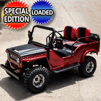 Mini Safari Jeep Mini Gas Golf Cart With 125cc Motor Lifted & Loaded