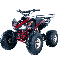 125cc Atv Jet 10 Sport 4 Wheeler with Automatic Transmission w/Reverse and Alloy Wheels - JET-10 DLX