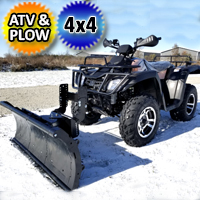 300cc Atv With Snow Plow Utility Style Vehicle Four Wheeler 4 x 4 With Four Wheel Drive