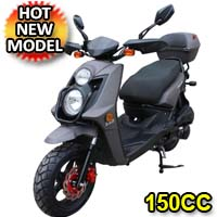 Nitro 150cc Matte Finish 4-Stroke Moped Scooter
