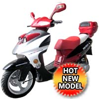 150cc 4 Stroke Single Cylinder Moped Scooter with Radio & USB - PHANTOM 150CC (QT-12)