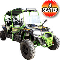 Predator 400-XL UTV 4 Seater Utility Vehicle w/ Windshield - PREDATOR 400 XL-4 SEATS