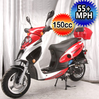 150cc Bahama 4 Stroke Single Cylinder Moped Scooter - QT-12A