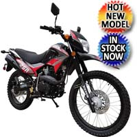 250cc Manual Enduro 4 Speed Kick Start Street Legal Dirt Bike - Raven BSR XL 250cc