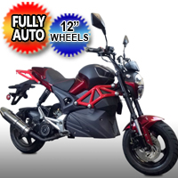 "150cc Rocket Sport MotorScooter Motorcycle With 12"" Wheels & Elec. Start - Model 150T-10"