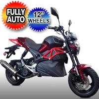 "150cc Rocket Sport MotorScooter Motorcycle With 12"" Wheels & Elec. Start - Model 150T-10"