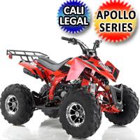 Apollo Series 125cc ATV Sniper Sport DLX Fully Automatic w/Reverse Sport Four Wheeler - SNIPER 125cc DLX