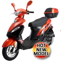 Brand New 50cc 4 Stroke Air Cooled Moped Scooter - SOLANA 49cc QT-5