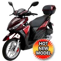 150cc 4 Stroke Single Cylinder Moped Scooter with Radio USB & LED Light - SPARK 150CC