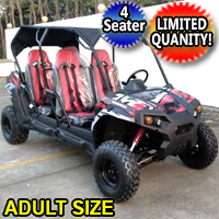 TrailMaster Challenger 4 Seater UTV 150cc Adult Size Utility Vehicle