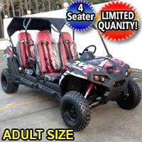 TrailMaster Challenger 4 Seater UTV 150cc Adult Size Utility Vehicle