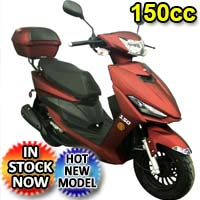 150cc Viper 4 Stroke Air Cooled Matte FInish Moped Scooter - VIPER 150 MATTE