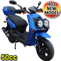 Zoma 50cc Matte Finish 4-Stroke Moped Scooter