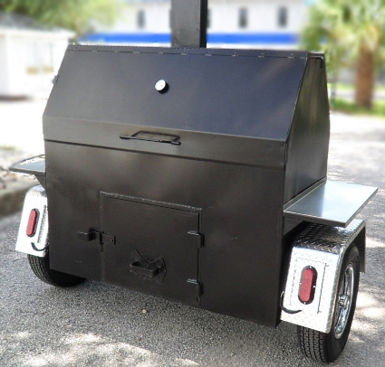 Custom Built Commercial Competition BBQ Smoker Trailer