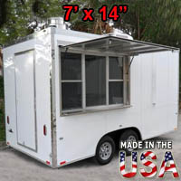 Fully Equipped 7' Wide x 14' Long Concession Trailer