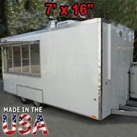 Fully Equipped 7' Wide x 16' Long Concession Trailer