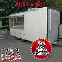 Fully Equipped 8' Wide x 18' Long Concession Trailer