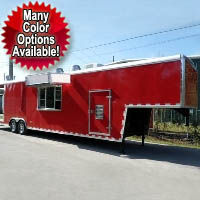 "Fully Equipped 8'6"" Wide x 42' Long Concession Trailer"