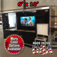 Fully Equipped 6' x 10' Tailgate Concession Trailer
