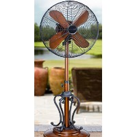 "18"" Tropical-Breeze Pedestal Misting Fan"