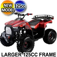 125CC ATV Fully Automatic Larger Frame ATV w/Reverse Four Wheeler - ATV-3125F