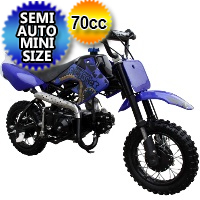 Coolster 70cc Semi Auto Mini Size Dirt Bike