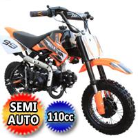 Coolster Dirt Bike 110cc Semi Auto Mini Size Dirt Bike - QG-213 Semi Auto