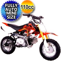 Coolster 110cc Fully Auto Mini Size Dirt Bike