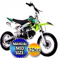 Coolster 125cc Manual Clutch Mid Size Dirt Bike - QG-214FC