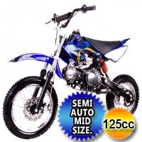 Coolster 125cc Semi Auto Mid Size Dirt Bike