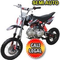 Pit Bike Coolster 125cc Semi Auto Mid Size Cali Legal Dirt Bike - XR-125-SEMI-AUTO