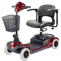 HS-295E Mini 4-Wheel Portable Power Scooter with Battery Included