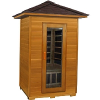 2 Person Outdoor Carbon Infrared Sauna (Red Cedar)