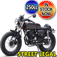 250cc Motorcycle RTD 5 Speed Manual Street Bike - DF250RTD