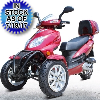 "50cc Super Trike Scooter Gas Moped Fully Automatic with 12"" Wheels"