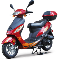 50cc Gas Moped Scooter w/Automatic Transmission & Aluminum Wheels - Express 50