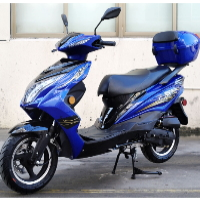 50cc Gas Moped Scooter Automatic CVT 12 Inch Aluminum Wheels - Super 50