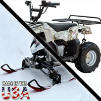 110cc Badger Utility 4 Stroke Fully Auto AtSki Quad Snowmobile