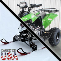 2014 125cc Atlas AtSki w/Reverse Junior Snowmobile