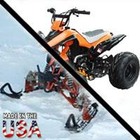 125cc Intruder Midsize AtSki W/Reverse Snowmobile
