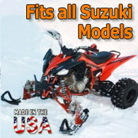 Suzuki ATV Ski Snowmobile Conversion Kit - Fits All Models