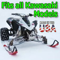Kawasaki ATV Ski Snowmobile Conversion Kit - Fits All Models