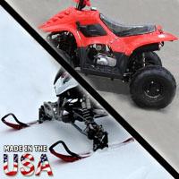 110cc Boulder Sport AtSki 4 Wheeler Snowmobile