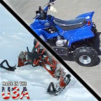 50cc LG Type R 4 Stroke AtSki Four Wheeler Snowmobile