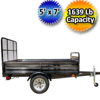 DK2 5' x 7' Mighty Multi Utility Trailer with Drive Up Gate - MMT5X7-DUG